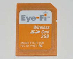 Illustration for article titled Eye-Fi Wi-Fi SD Card Gets FCC Approval