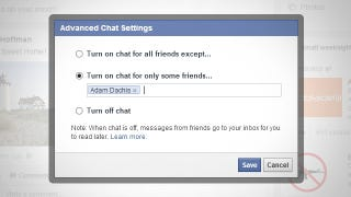 Illustration for article titled Turn On Facebook Chat for Only the Few People That Matter