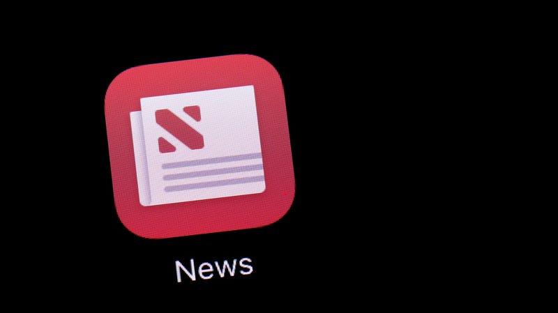 Apple's News app running on an iPad.