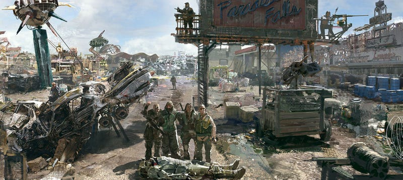 Illustration for article titled Remembering Fallout 3's Fantastic Concept Art