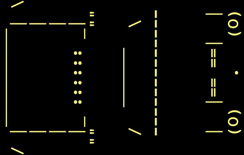 Illustration for article titled Lamborghini Miura ASCII Art