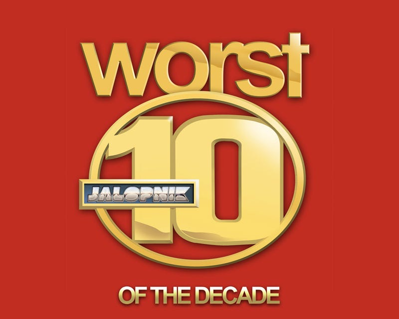 Illustration for article titled Jalopnik's Worst10 Cars Of The Decade