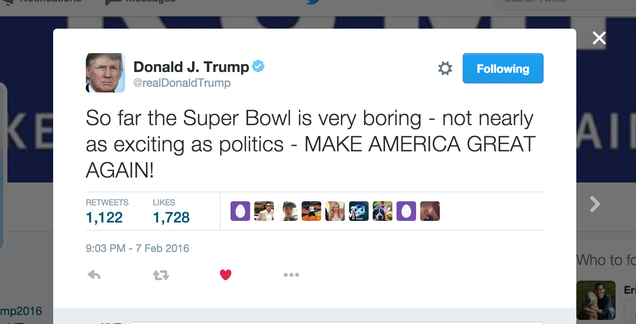 The Only Thing 'Super' Tonight Is DONALD TRUMP