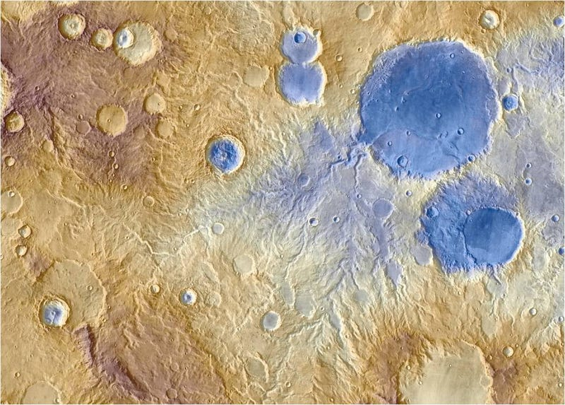 Illustration for article titled Nuevas investigaciones demuestran que hubo nieve en Marte