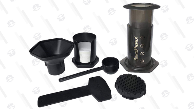 Piston style brewers are never going to be the most space efficient, but the Aeropress is still probably small enough to keep in your pack, and is used by even the fussiest coffee lovers at home because of how much flavor it can extract.