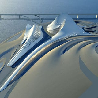 Illustration for article titled Zaha Hadid's Dubai Opera House Design Makes Me See Cylon Raiders