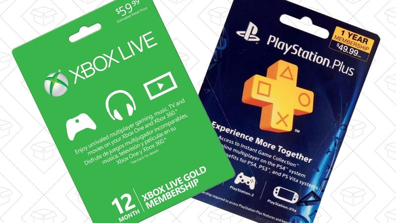 Xbox Live Gold, $44 with code CFEBFLASH10OFF | PlayStation Plus, $43 with code CFEBFLASH10OFF