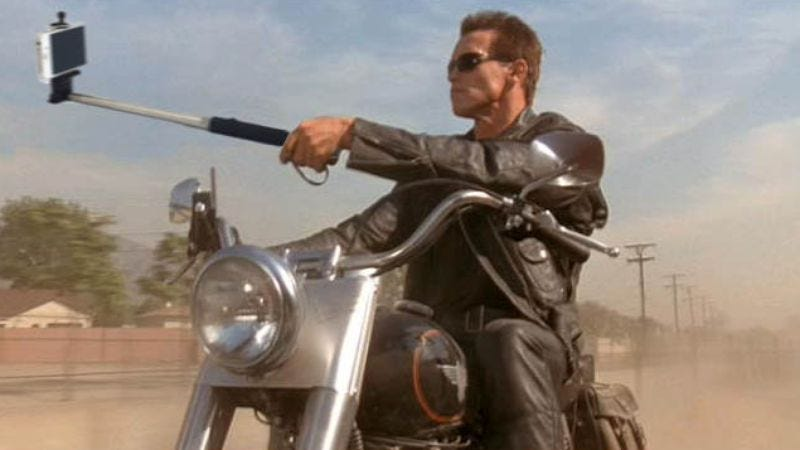 Terminator 2: Judgment Day (Image: Guns Replaced With Selfie Sticks Tumblr)
