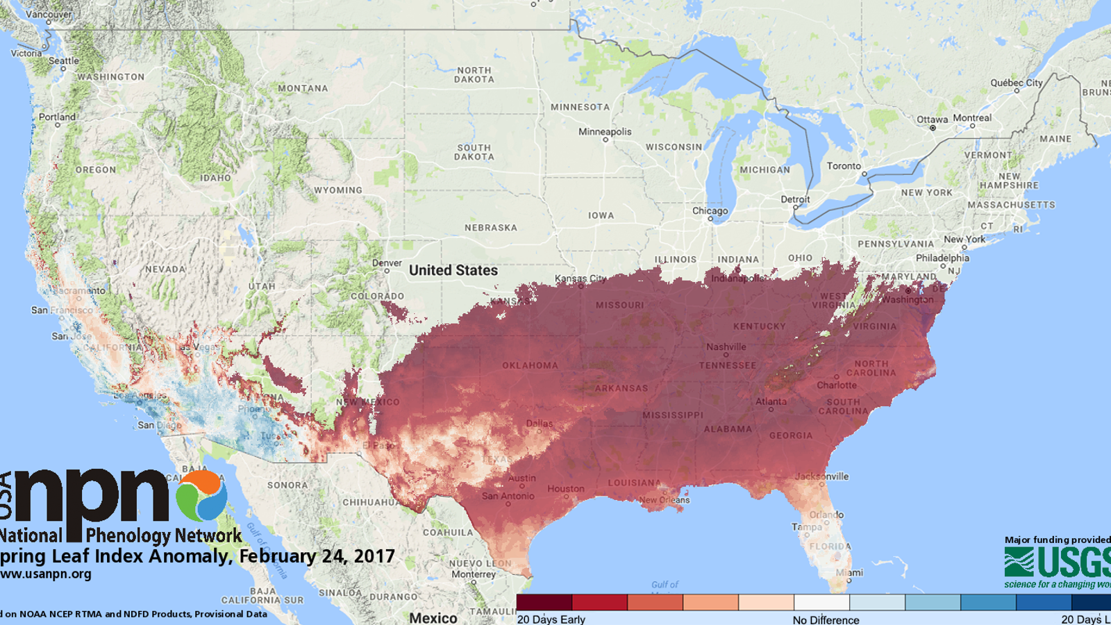An Alarmingly Early Spring is Sweeping Across the Southern ...