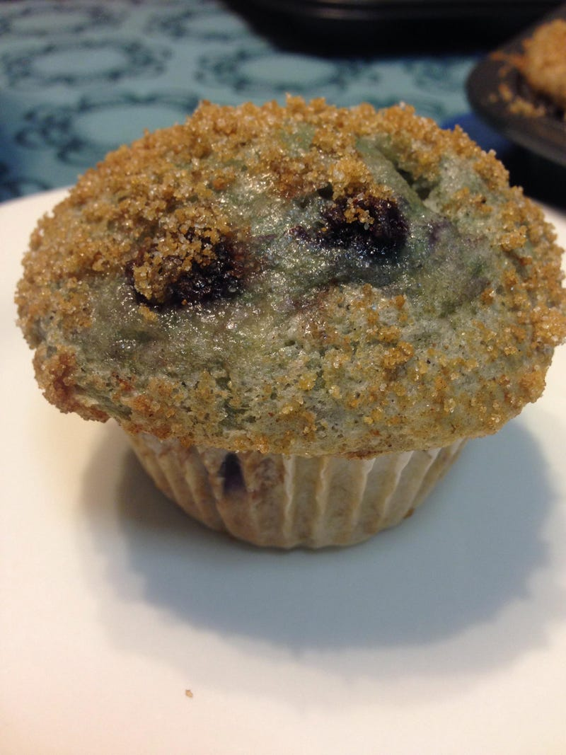 Illustration for article titled I made gluten free blueberry muffins