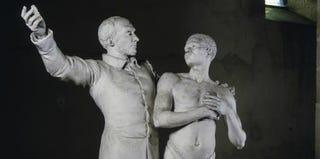 Louis-Ernest Barrias, Victor Schoelcher monument, 1896. Plaster, 223 cm (Musée Saint-Nazaire, Bourbon-Lancy, France)