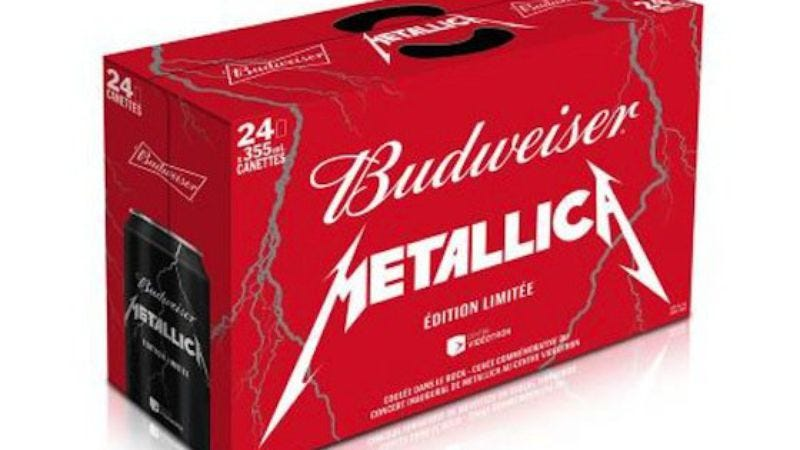 Illustration for article titled 91,000 cans of Canadian Budweiser to be imbued with Metallica's essence