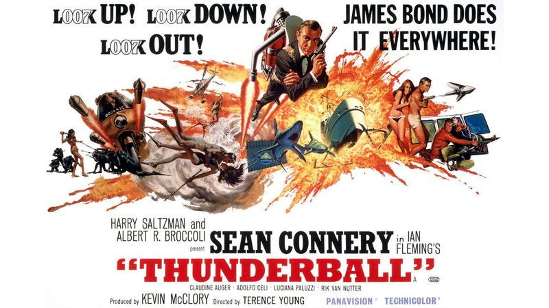 Illustration for article titled MGM finally acquires full legal rights to Thunderball after thrilling jetpack escape