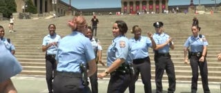 Officers from the Philadelphia Police DepartmentVideo screenshot
