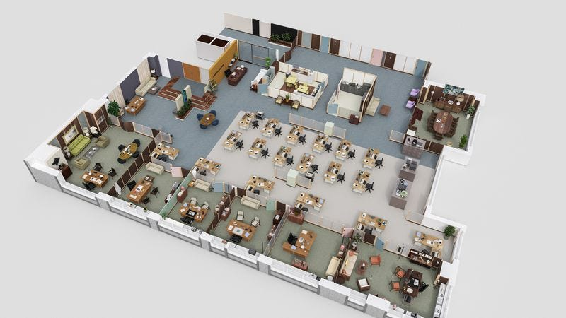 Illustration for article titled The Office, Mad Men, Parks And Rec, more get turned into hyper-detailed 3D models