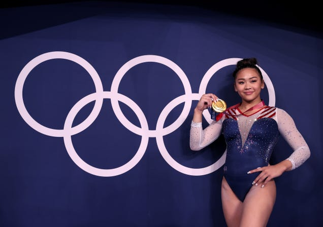 Suni Lee steps in for Biles and everything she touches turns gold