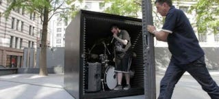 Illustration for article titled Death metal band will play in this sealed metal box until they pass out
