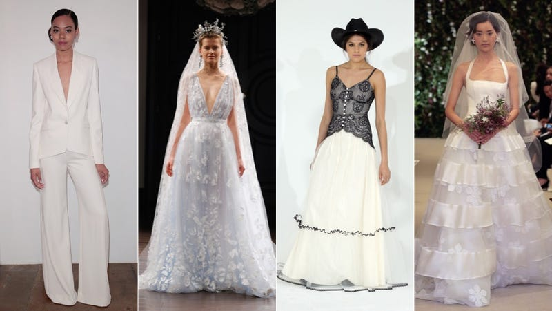 Far More Fun Than Gawking At The Gowns For Bridal Fashion Week Is Imagining What Kind Of Person Would Wear Them Shows Like Bridezillas And Say Yes To