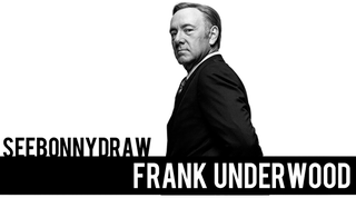 Illustration for article titled SeeBonnyDraw: Frank Underwood! In Speed Painting Form!