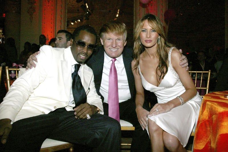 "Sean ""P. Diddy"" Combs, Donald Trump and Melania TrumpJohnny Nunez/WireImage"