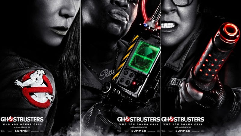 Illustration for article titled These New Ghostbusters Character Posters Are Just Badass