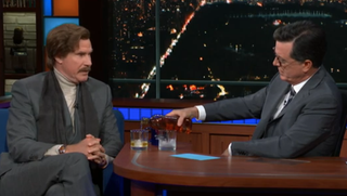 Ron Burgundy stages an all out—yet very classy—late-night takeover