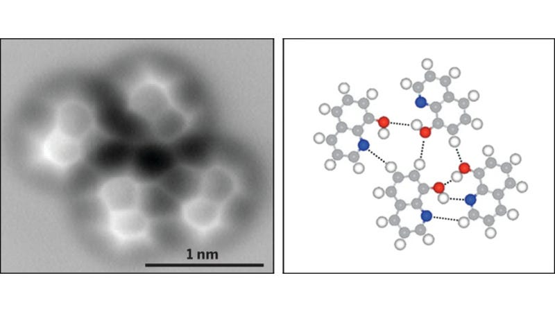 Illustration for article titled The Very First Image of a Hydrogen Bond