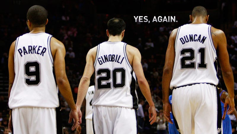 Illustration for article titled Same Faces, Same Result: The Spurs Are Back In The Finals