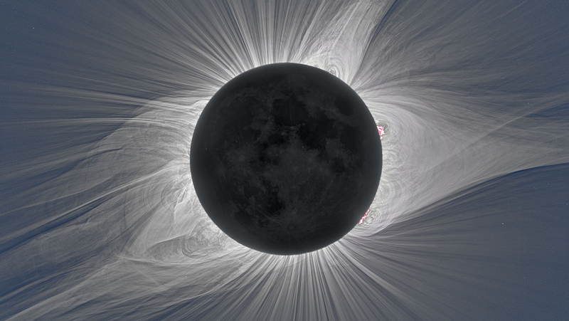 An image of the Sun's corona.