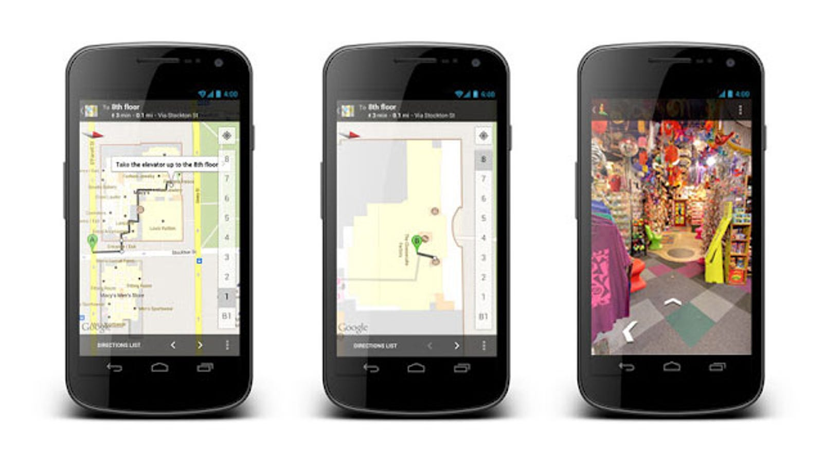 Google Maps on Android Now Offers Indoor Walking ...