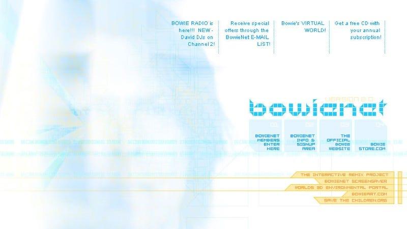 Illustration for article titled Bowie lanzó su propio proveedor de Internet en los 90, un servicio adelantado a su tiempo
