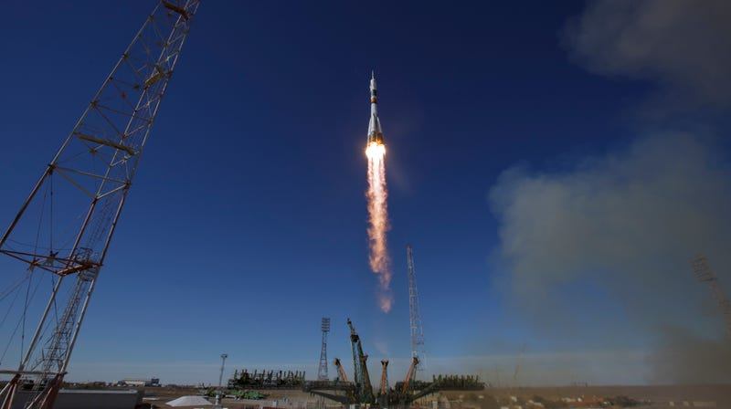 The Soyuz MS-10 spacecraft launched from Kazakhstan on October 11.