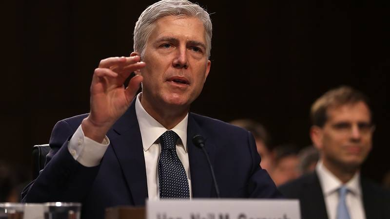 Newly confirmed Supreme Court Justice Neil Gorsuch.