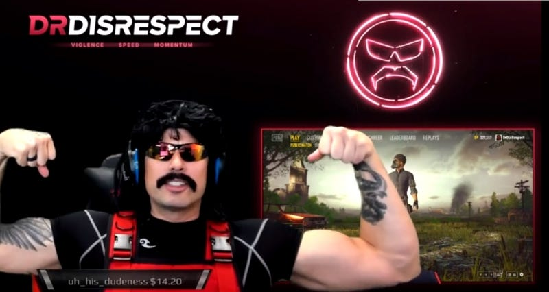 Illustration for article titled Dr Disrespect's Return To Twitch Brings 388,000 Concurrent Viewers And Money [UPDATE]