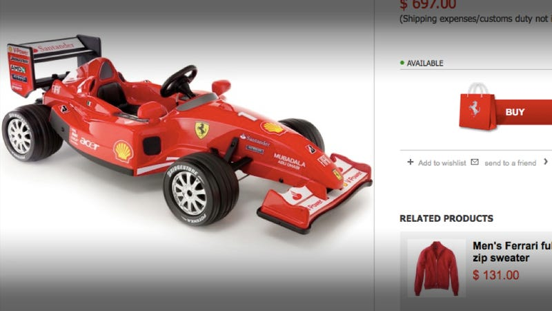 Illustration for article titled Ferrari only automaker offering Cyber Monday deal