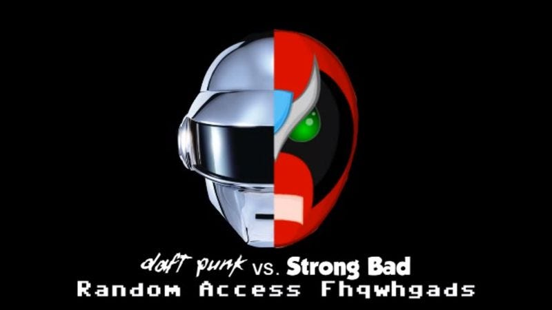 Illustration for article titled Give life back to fhqwhgads with this Daft Punk and Strong Bad mashup