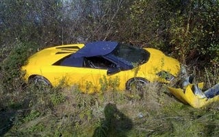 Illustration for article titled British Groom Crashes Rented Lambo On Way To Altar
