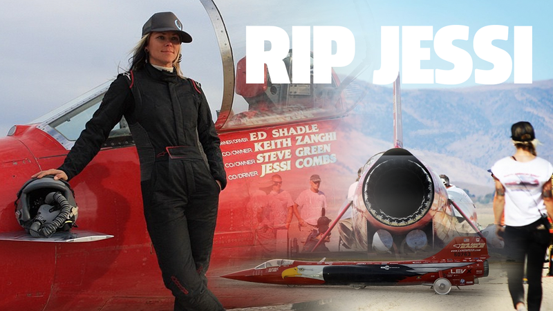 Illustration for article titled Jessi Combs' Jet Car Wreck Blamed On Wheel Failure At 550 MPH