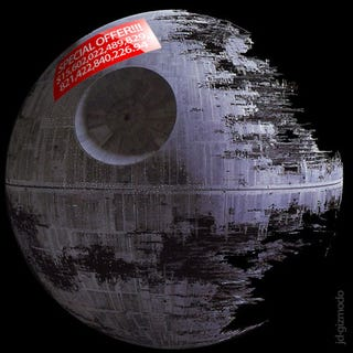 Illustration for article titled Death Star Costs $15.6 Septillion, 1.4 Trillion Times the US Debt
