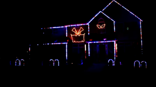 Odenton, Md., house with Halloween-light spectacular YouTube Screenshot