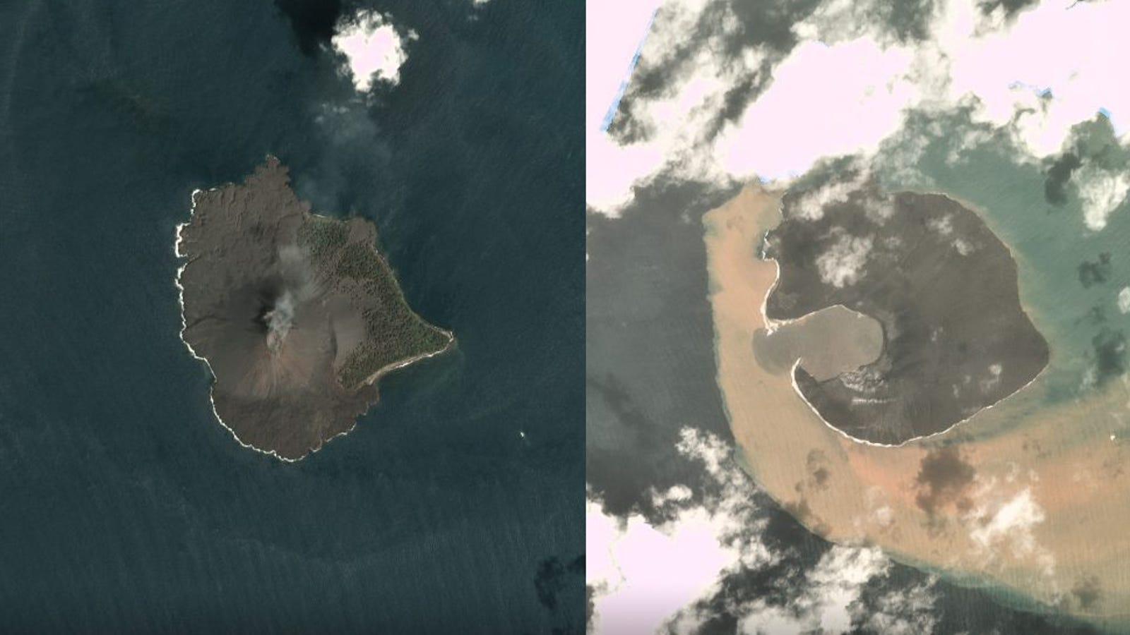 QnA VBage Satellite Images Show Shattered Remains of Indonesia's Tsunami-Causing Volcano