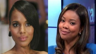 Kerry Washington as Olivia Pope in Scandal; Gabrielle Union as Mary Jane Paul in Being Mary JaneABC; BET