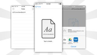 Illustration for article titled AnyFont Installs Additional Fonts In iOS