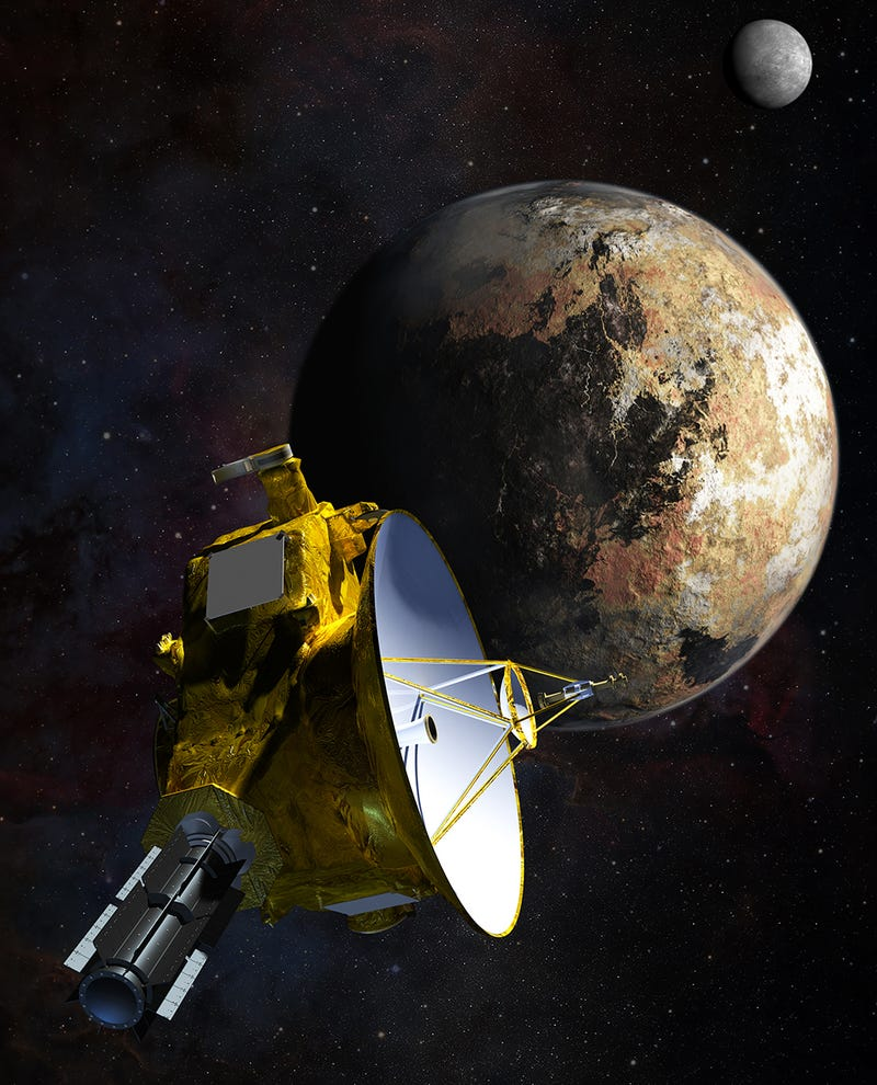 Illustration for article titled Why New Horizons Won't Orbit Pluto (with math and shit)