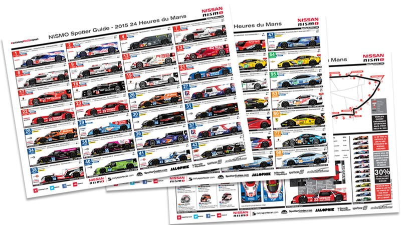 Illustration for article titled Version 2 NISMO Le Mans Spotter Guide now live