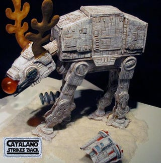 Illustration for article titled Red-nosed gingerbread AT-AT is covered in sweet details