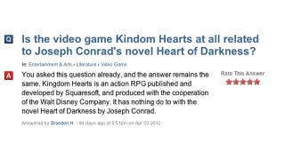 Illustration for article titled No Dude, Kingdom Hearts Isn't Based on Heart of Darkness