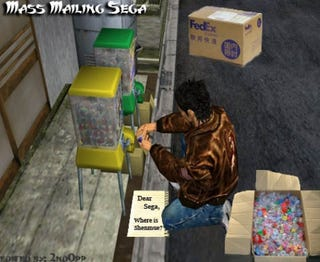 Illustration for article titled Shenmue Fans Plan Toy-based Direct Action