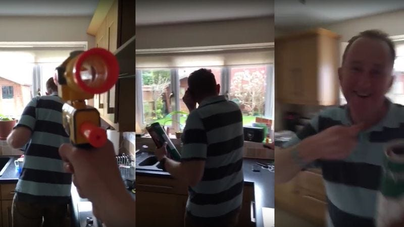 "Screenshot: ""Shot My Dad Every Day With A Nerf Gun…"" (YouTube)"