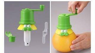 Illustration for article titled Cartoonish Juicer Shreds Your Orange's Guts